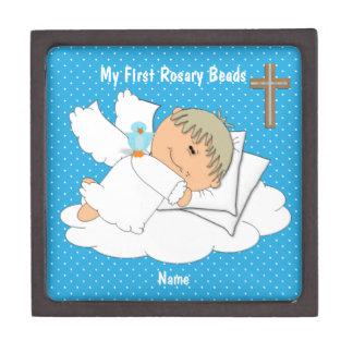 My First Rosary Beads Keepsake Box 8 Personalized