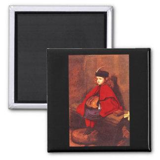 My First Sermon', Sir John_Portraits 2 Inch Square Magnet