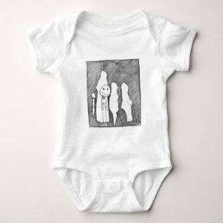 My first sketch! Larry Burdeschitze goes designy. Baby Bodysuit
