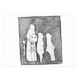 My first sketch! Larry Burdeschitze goes designy. Postcard
