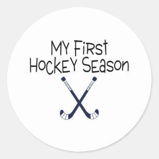 My First Soccer Season (Hockey Sticks) Stickers