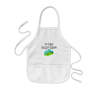 My First Soccer Season (Stick Figures) Kids' Apron