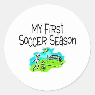 My First Soccer Season Stick Figures Sticker