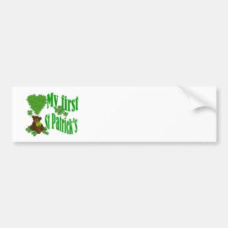 My first St Patrick's Bumper Sticker
