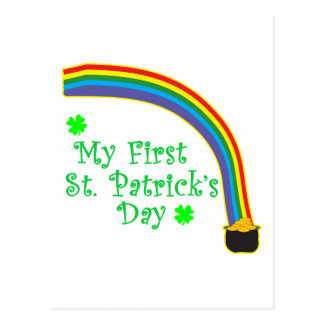 My First St. Patrick's Day Postcard