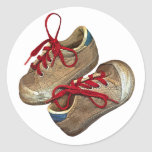 My first tennis shoes classic round sticker