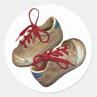 My first tennis shoes round sticker