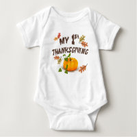 My First Thanksgiving Baby Bodysuit