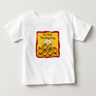 My First Thanksgiving Baby & fall pumpkings Baby T-Shirt