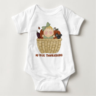 My First Thanksgiving Baby GIrl Tees