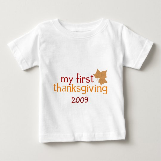 My First Thanksgiving Baby T-Shirt