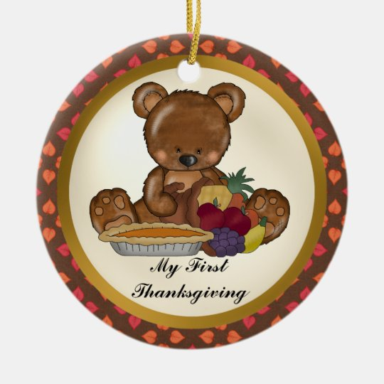 My First Thanksgiving Bear Baby ornament