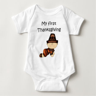 My First Thanksgiving Boy #2 *Creeper* Baby Bodysuit