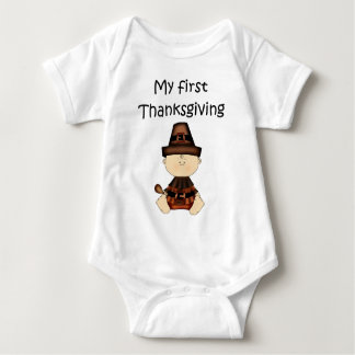 My First Thanksgiving Boy #3 *Creeper* T Shirt