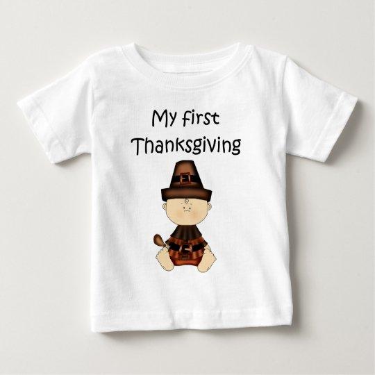 My First Thanksgiving Boy #3 *T-shirt* Baby T-Shirt