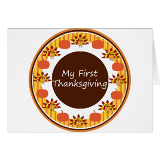 My First Thanksgiving Greeting Card