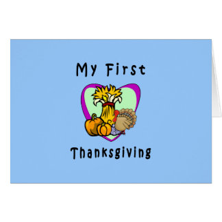 My First Thanksgiving Stationery Note Card