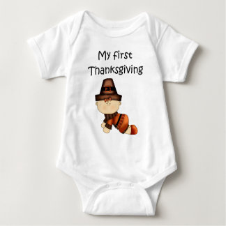 My First Thanksgiving Girl #1 *Creeper* T Shirts