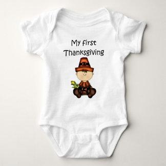 My First Thanksgiving Girl #3 *Creeper* Shirt