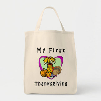 My First Thanksgiving Grocery Tote Bag
