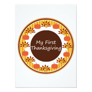 My First Thanksgiving Personalized Invitation