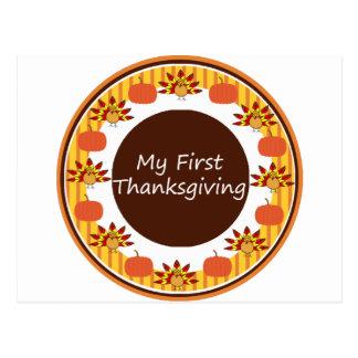 My First Thanksgiving Postcard