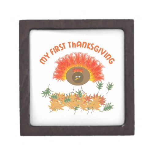 My First Thanksgiving Premium Trinket Box