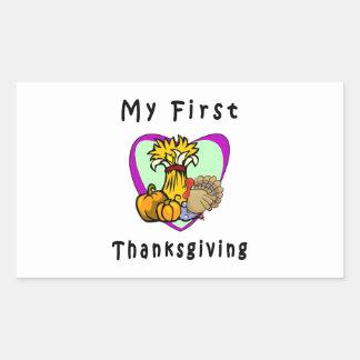 My First Thanksgiving Rectangular Sticker