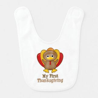 My First Thanksgiving Turkey Baby Bib