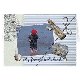 My first trip to the beach greeting cards