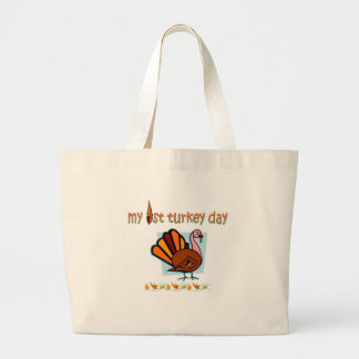 my first turkey day boys tote bags