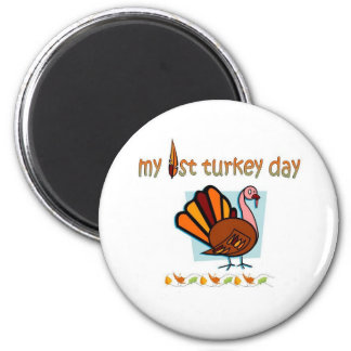 my first turkey day boys magnet