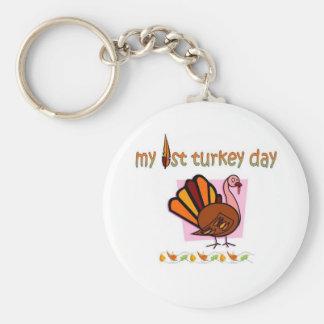 my first turkey day girls keychain