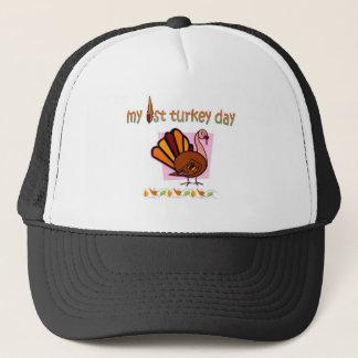 my first turkey day girls trucker hat