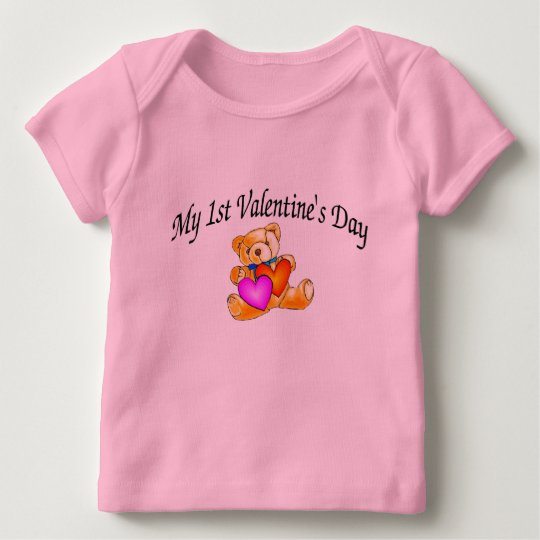 My First Valentines Day Bear Baby T-Shirt