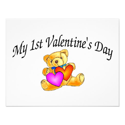 My First Valentines Day Bear Invitations