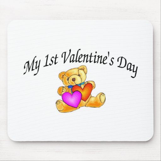 My First Valentines Day Bear Mouse Pad