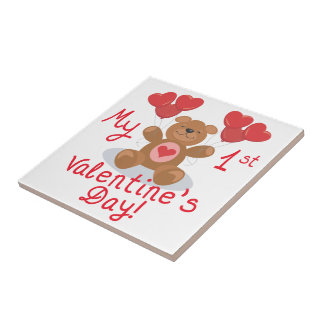 My First Valentines Day Ceramic Tiles