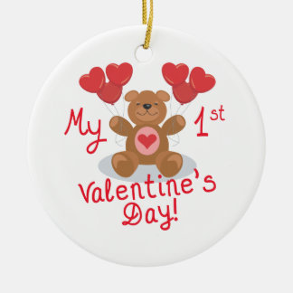My First Valentines Day Christmas Ornament