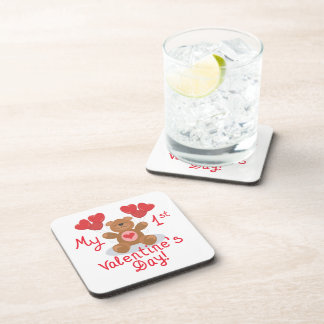 My First Valentines Day Coasters