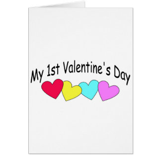 My First Valentines Day Hearts Card