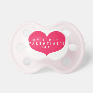My first Valentine's Day Pacifier