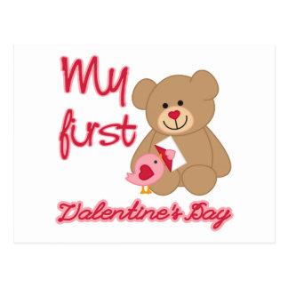 My First Valentine's Day Postcard