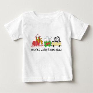 My First Valentines Day Train T Shirt