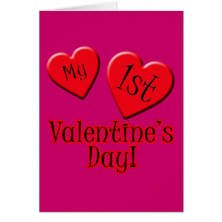 My First Valentine's Day Tshirt for Baby Card