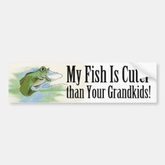 My Fish...Cuter than Your Grandkids Bumper Sticker Car Bumper Sticker
