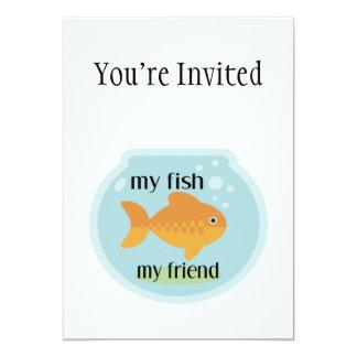 My Fish My Friend 5x7 Paper Invitation Card