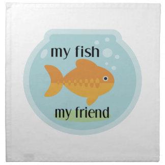 My Fish My Friend Napkin