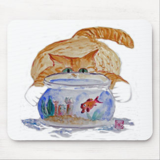 My Fishbowl, Meows Tiger Kitten Mouse Pad