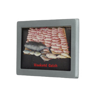My fishing Weekend Rectangular Belt Buckle